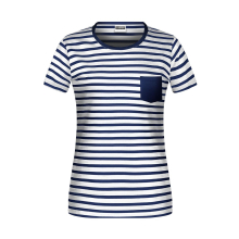 JAMES & NICHOLSON  Ladies T-Shirt Striped (#8027)
