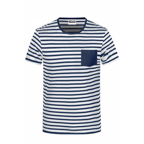 JAMES & NICHOLSON  Mens T-Shirt Striped (#8028)