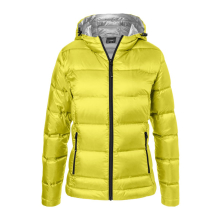 JAMES & NICHOLSON  Ladies Hooded Down Jacket (#JN1151)