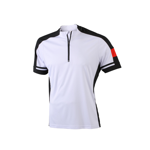 JAMES & NICHOLSON  Mens Bike-T Half Zip (#JN452)