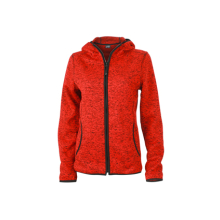 Ladies Knitted Fleece Hoody
