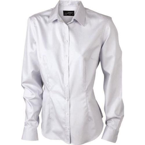 JAMES & NICHOLSON  Ladies Long-Sleeved Blouse (#JN615)