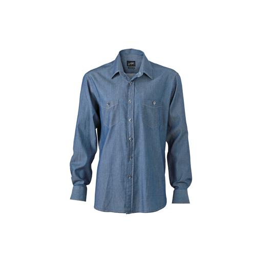 JAMES & NICHOLSON  Mens Denim Shirt (#JN629)