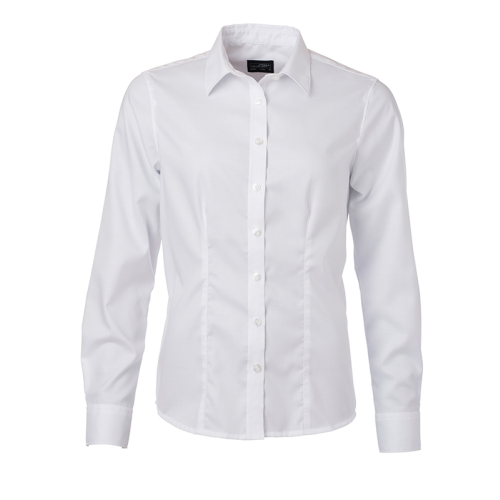 JAMES & NICHOLSON  Ladies Shirt Longsleeve Micro-Twill (#JN681)