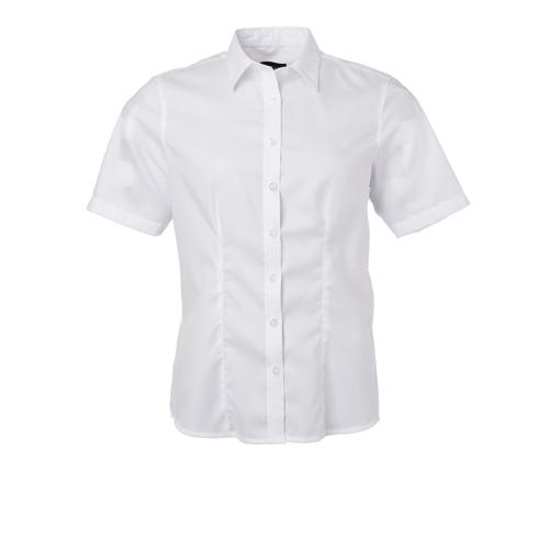 JAMES & NICHOLSON  Ladies Shirt Shortsleeve Micro-Twill (#JN683)