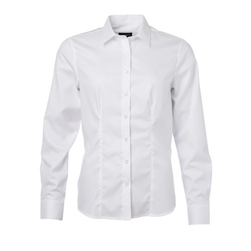 JAMES & NICHOLSON  Ladies Shirt Longsleeve Herringbone (#JN689)