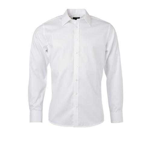JAMES & NICHOLSON  Mens Shirt Longsleeve Herringbone (#JN690)