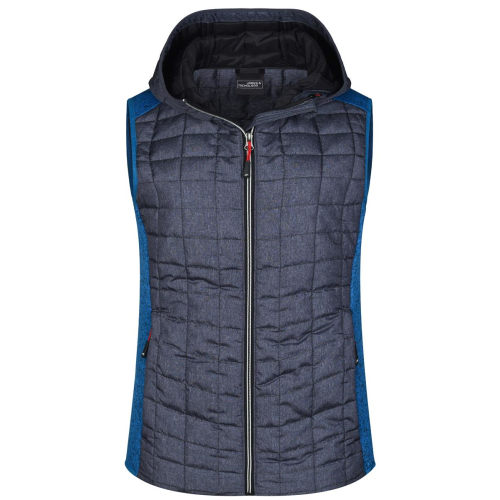 JAMES & NICHOLSON  Ladies Knitted Hybrid Vest (#JN767)