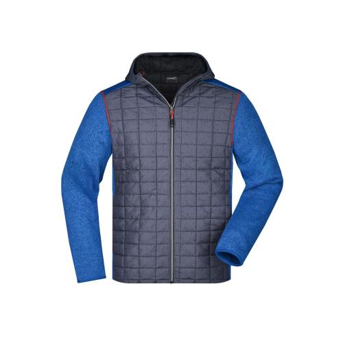 JAMES & NICHOLSON  Mens Knitted Hybrid Jacket (#JN772)