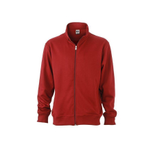 JAMES & NICHOLSON  Workwear Sweat Jacket (#JN836)