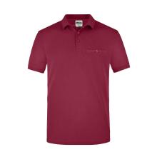 JAMES & NICHOLSON  Men´s Workwear Polo Pocket...