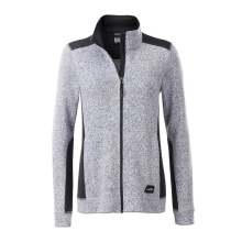 JAMES & NICHOLSON  Ladies Knitted Workwear Fleece Jacket...