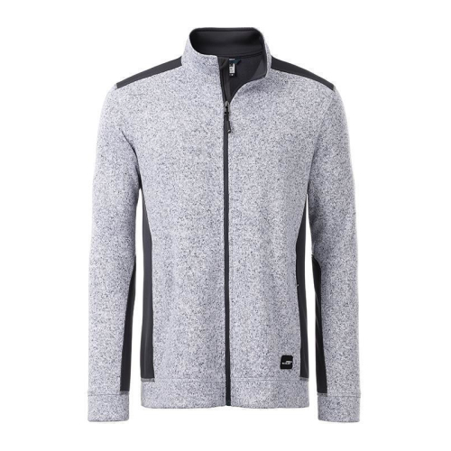 JAMES & NICHOLSON  Mens Knitted Workwear Fleece Jacket (#JN862)