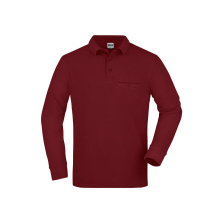 JAMES & NICHOLSON  Mens Workwear Polo Pocket...