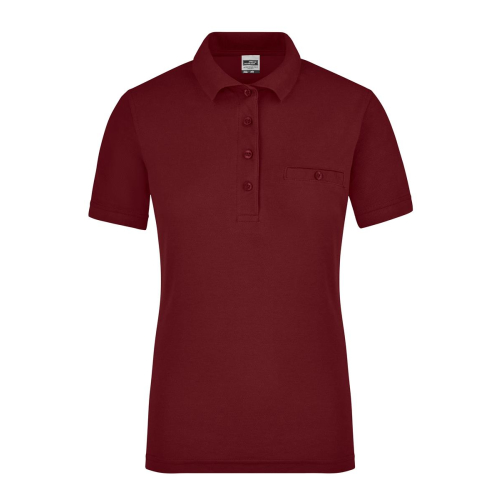 JAMES & NICHOLSON  Ladies Workwear Polo Pocket (#JN867)
