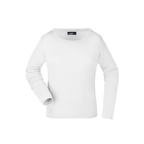 JAMES & NICHOLSON  Ladies Shirt Long-Sleeved Medium (#JN903)