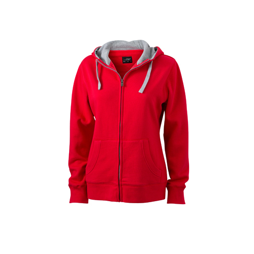 JAMES & NICHOLSON  Ladies Lifestyle Zip-Hoody (#JN962)