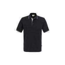 HAKRO Poloshirt Casual  Farbe: (005)schwarz/silber |...